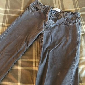 Low rise straight cut brown jeans. Size 34x30